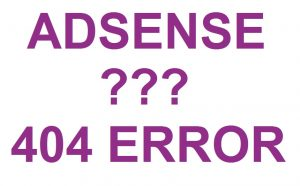 adsense ads 404 pages